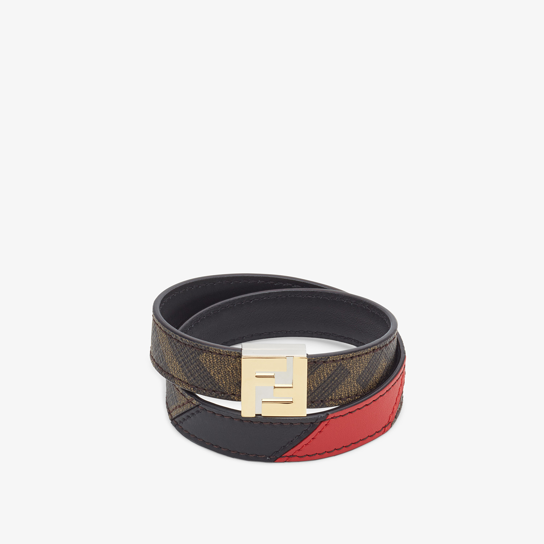 FENDI BRACELET - Brown fabric bracelet - view 1 detail