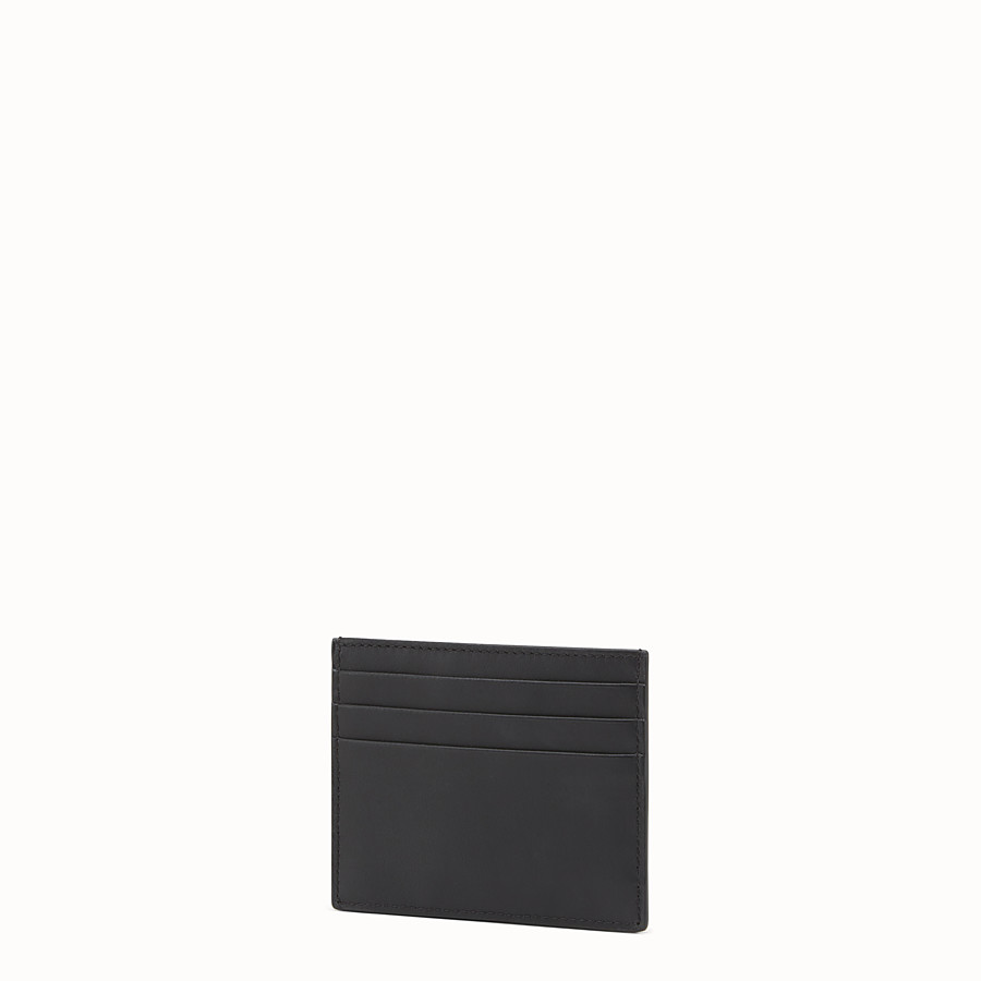 FENDI CARD HOLDER - 黑色皮革卡片套 - view 2 detail