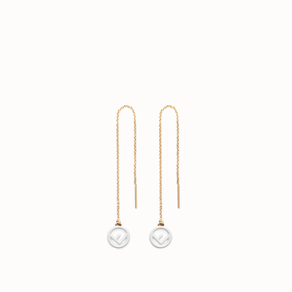 FENDI F IS FENDI EARRINGS - Gold and white coloured earrings - view 1 small thumbnail