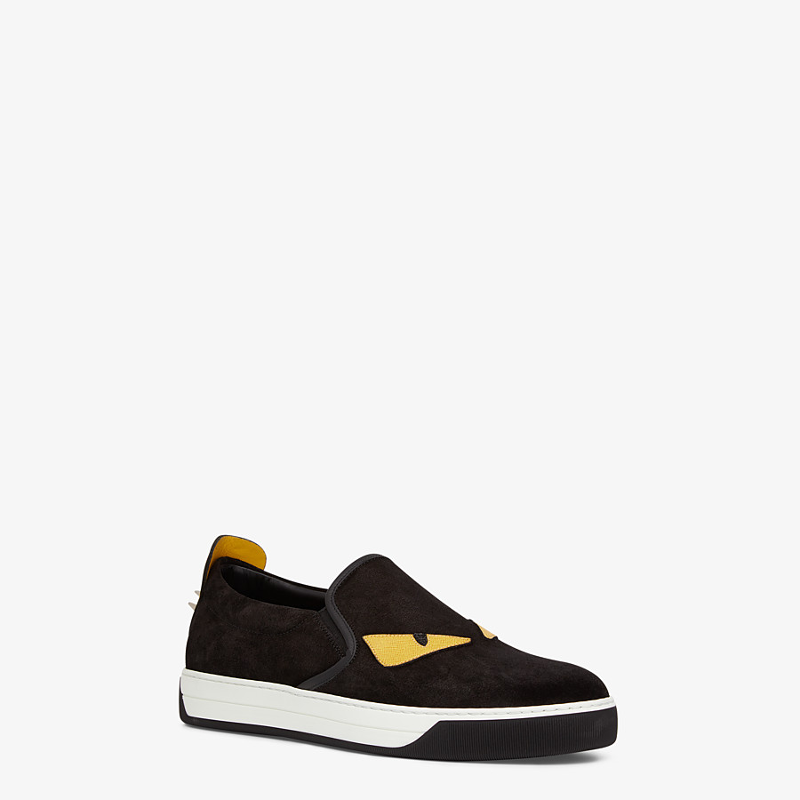 FENDI SNEAKER - Slip-on in schwarzem Leder - view 2 detail