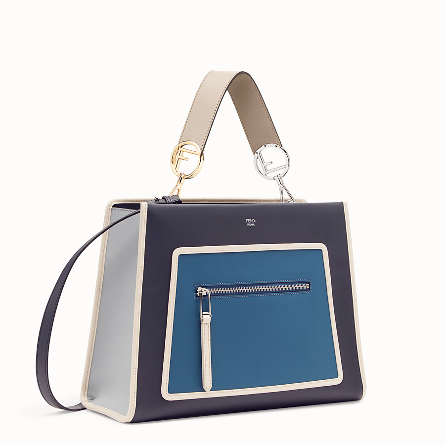 FENDI RUNAWAY REGULAR - Tasche aus Leder in Blau - view 2 detail