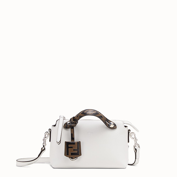FENDI BY THE WAY MINI - Small white leather Boston bag - view 1 small thumbnail
