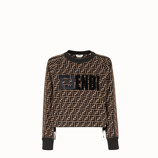 FENDI SWEATSHIRT - Multicolour cotton sweatshirt - view 1 small thumbnail