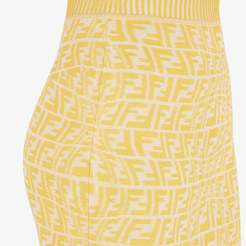FENDI SKIRT - Yellow viscose skirt - view 3 detail