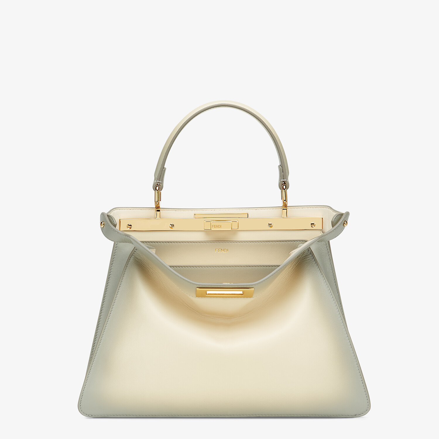 FENDI PEEKABOO ISEEU MEDIUM - White leather bag - view 1 detail