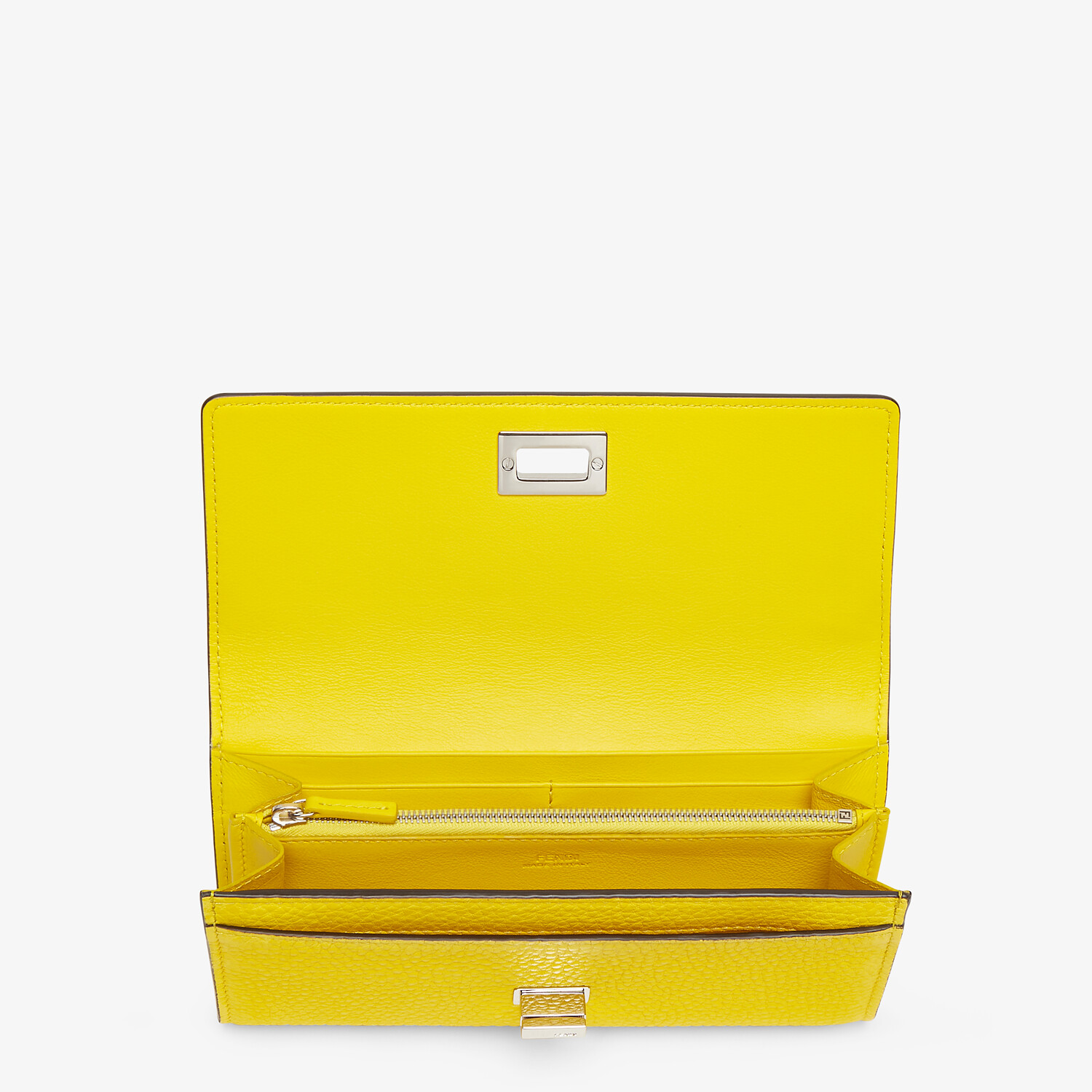 FENDI CONTINENTAL - Yellow leather wallet - view 3 detail
