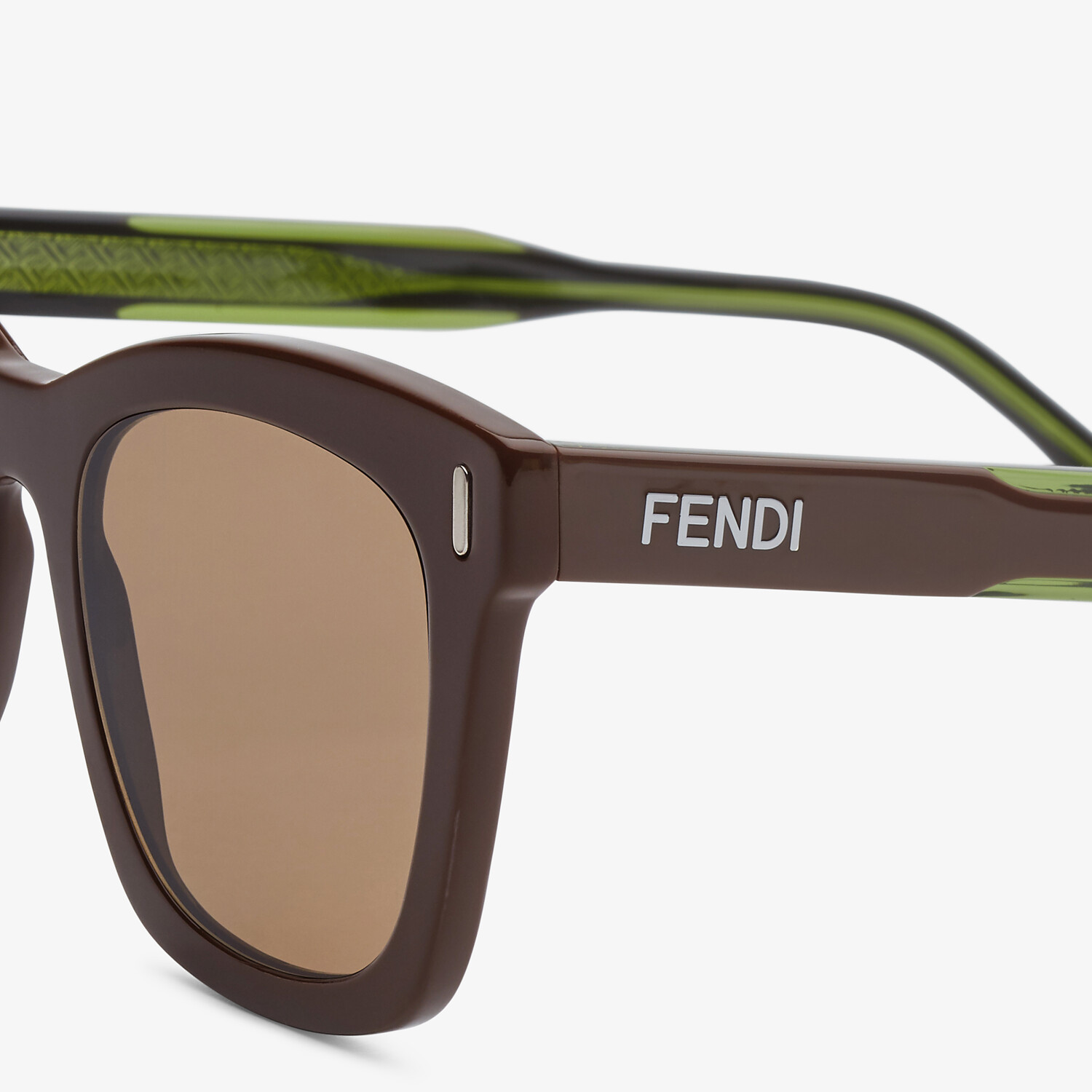 FENDI FENDI - Brown sunglasses - view 3 detail