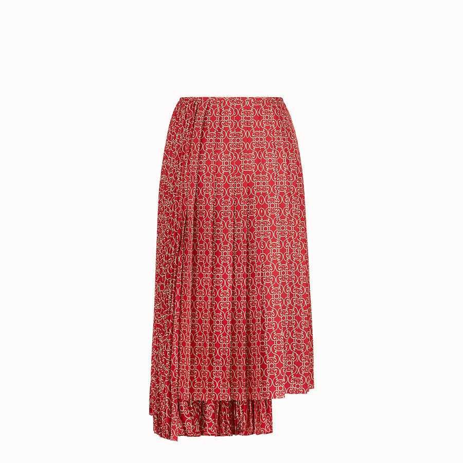 FENDI SKIRT - Red twill skirt - view 2 detail