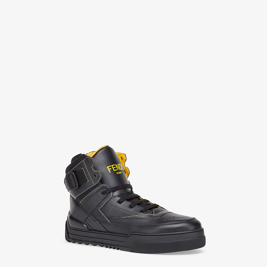 FENDI SNEAKER - Hoher Sneaker aus Leder in Schwarz - view 2 detail
