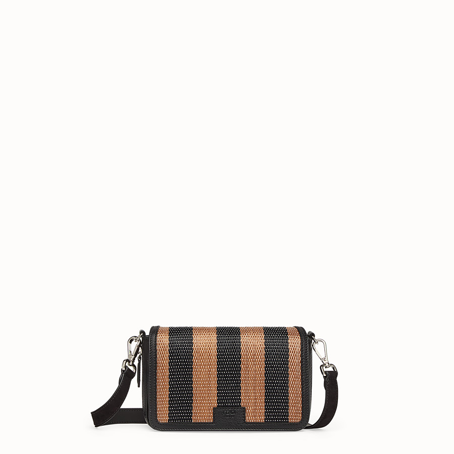 FENDI FLAP BAG - Borsa in rafia marrone - vista 1 dettaglio