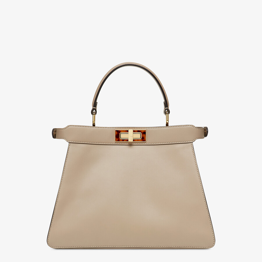 FENDI PEEKABOO ISEEU MEDIUM - gray leather bag - view 6 detail