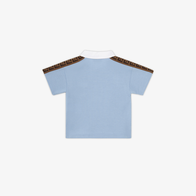 FENDI BABY POLO SHIRT - Piqué baby polo shirt - view 2 detail