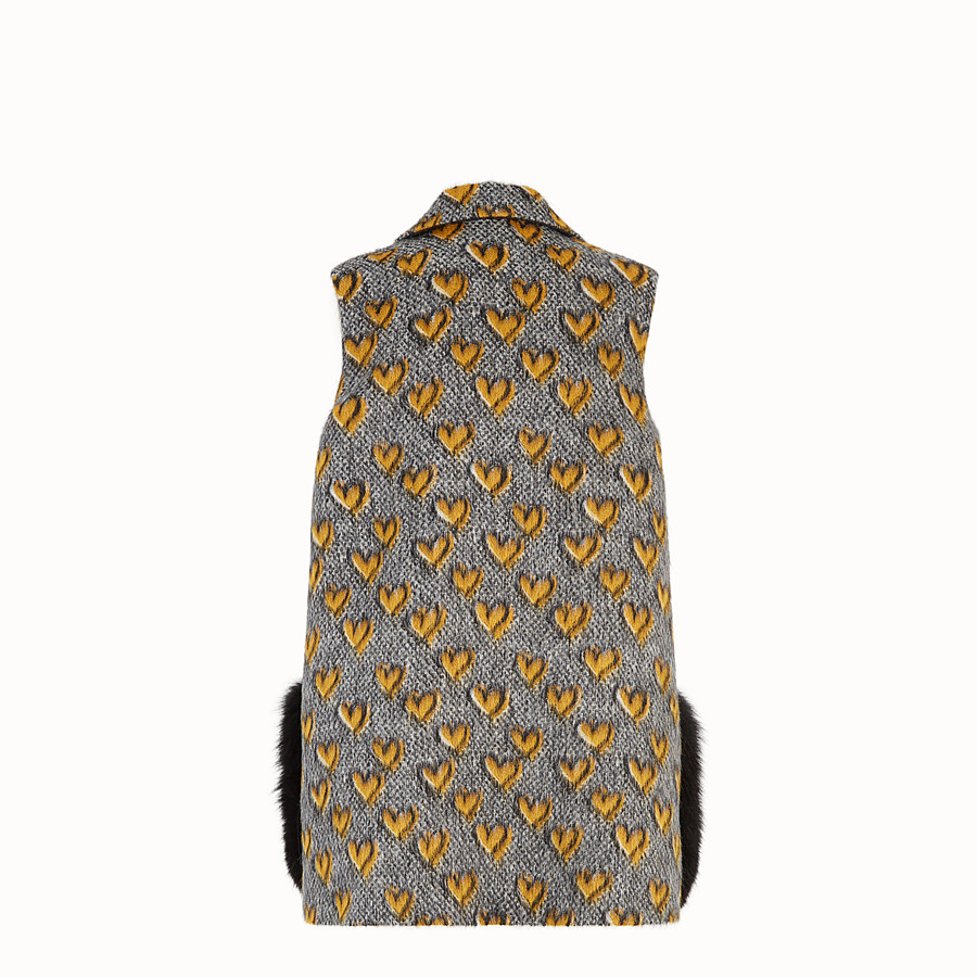 FENDI GILET - Multicolour mohair wool gilet - view 2 detail