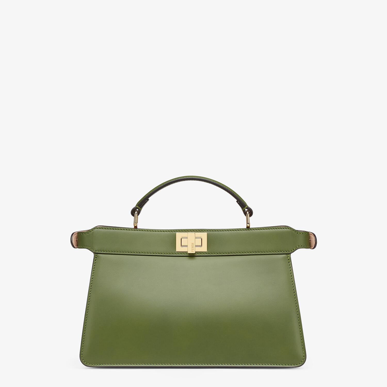 FENDI PEEKABOO ISEEU EAST-WEST - Green leather bag - view 4 detail