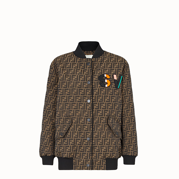 FENDI BOMBER - Brown canvas bomber. - view 1 small thumbnail
