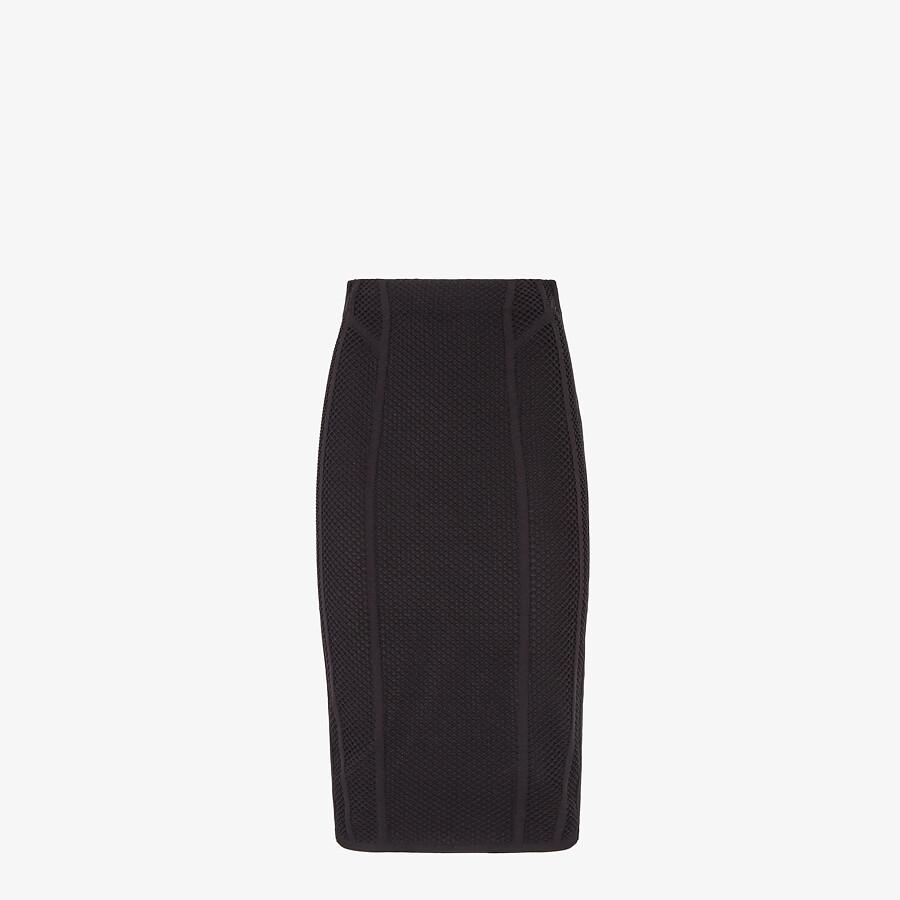 FENDI SKIRT - Black mesh skirt - view 1 detail