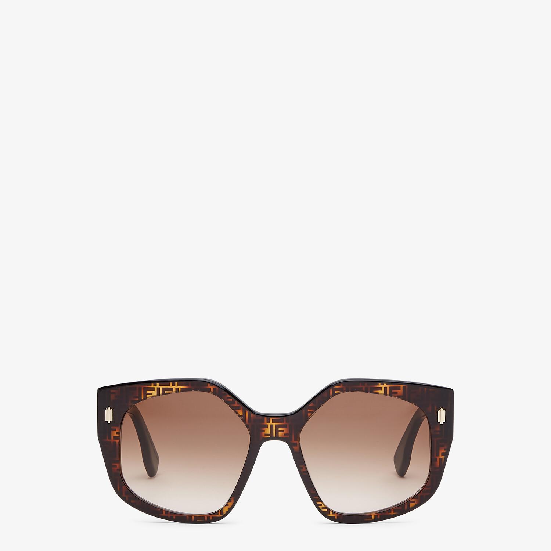 FENDI FENDI BOLD - FF Havana and black acetate sunglasses - view 1 detail