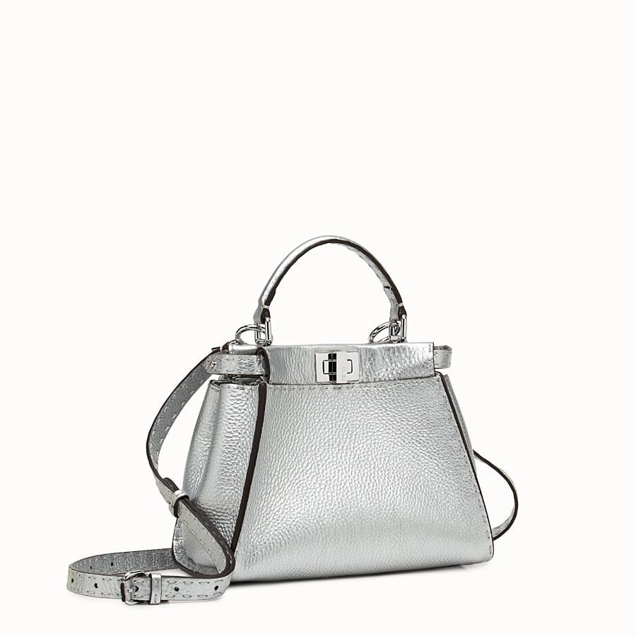 FENDI PEEKABOO MINI - Silver Roman leather mini handbag - view 2 detail