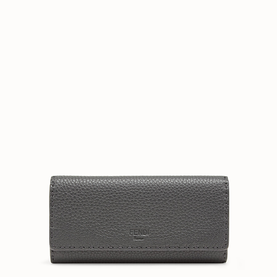 FENDI CONTINENTAL - Grey leather wallet - view 1 detail