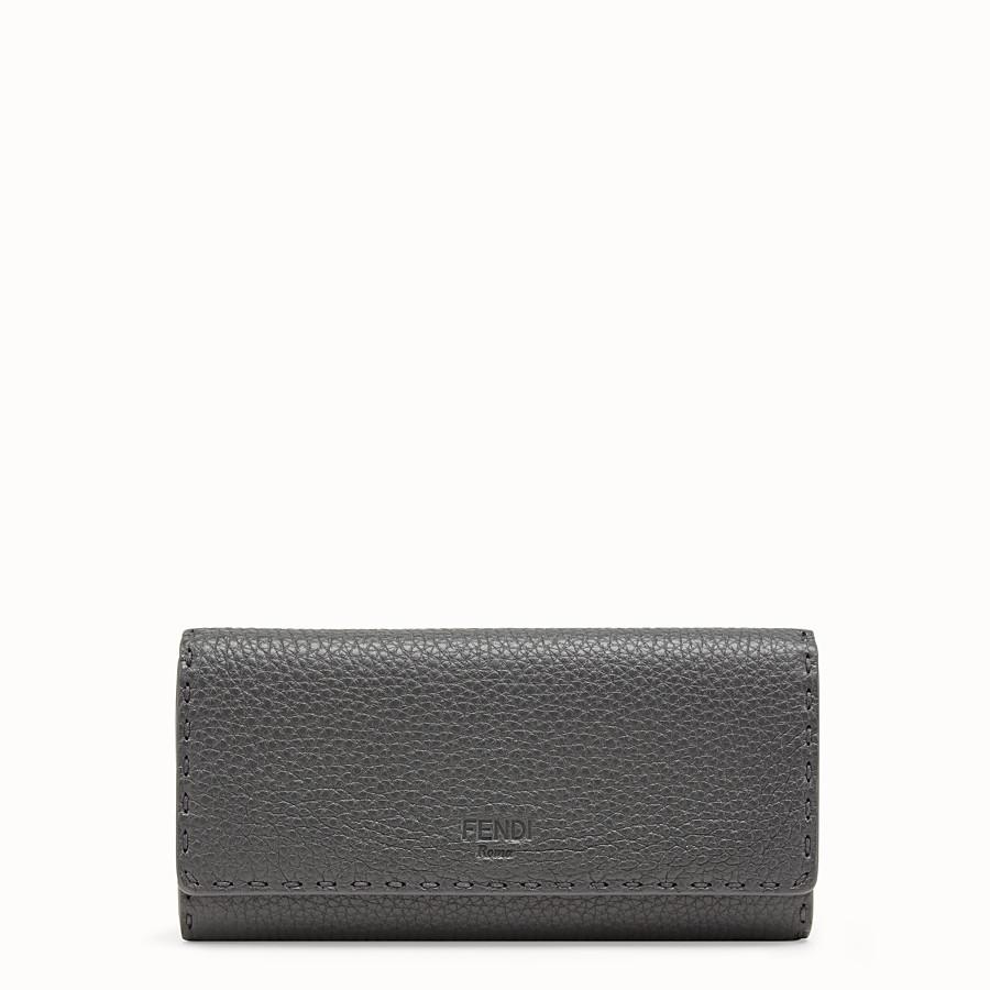 Portefeuille en cuir gris - PORTEFEUILLE CONTINENTAL   Fendi 04acc5c97e5