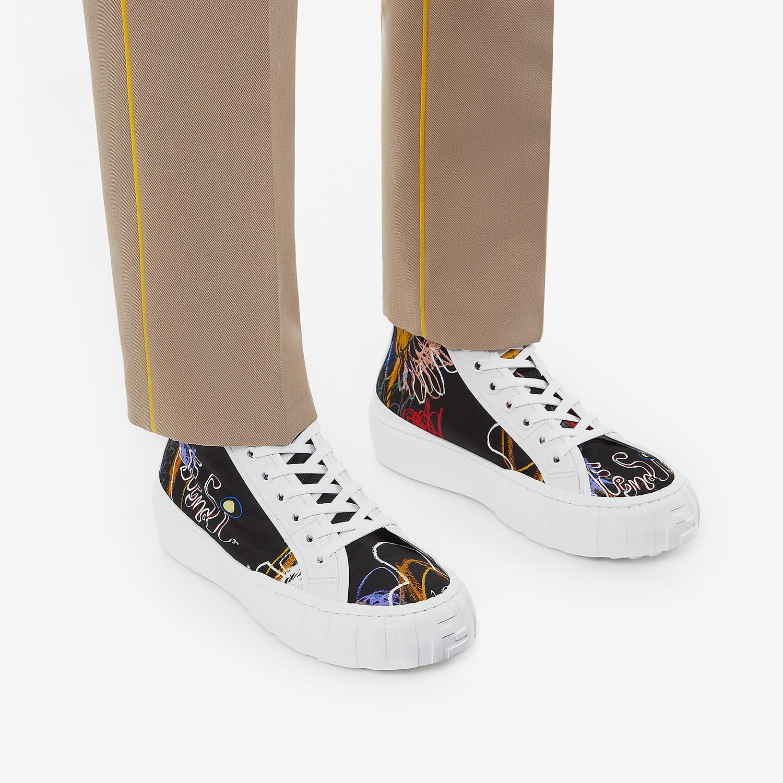 FENDI SNEAKERS - Multicolor nylon high-tops - view 5 detail