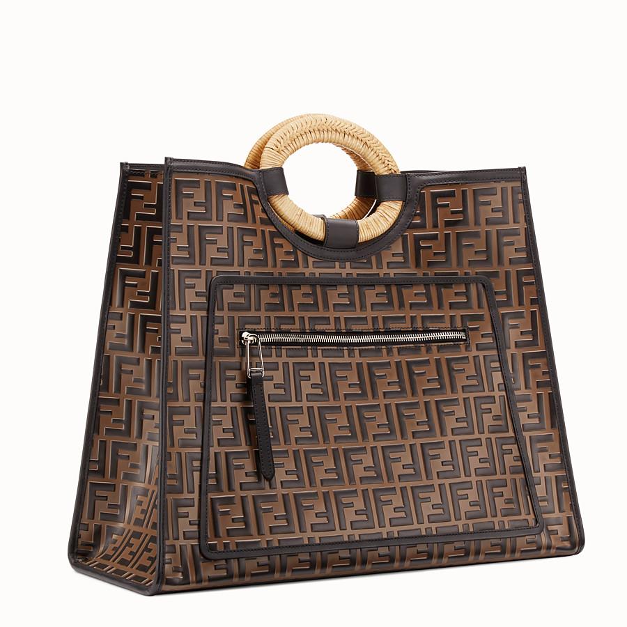 FENDI RUNAWAY SHOPPING - Shopper in pelle multicolor - vista 3 dettaglio