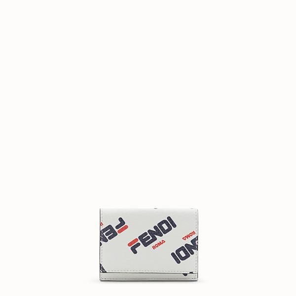 FENDI MICRO TRIFOLD - Portafoglio in pelle bianca - vista 1 thumbnail piccola