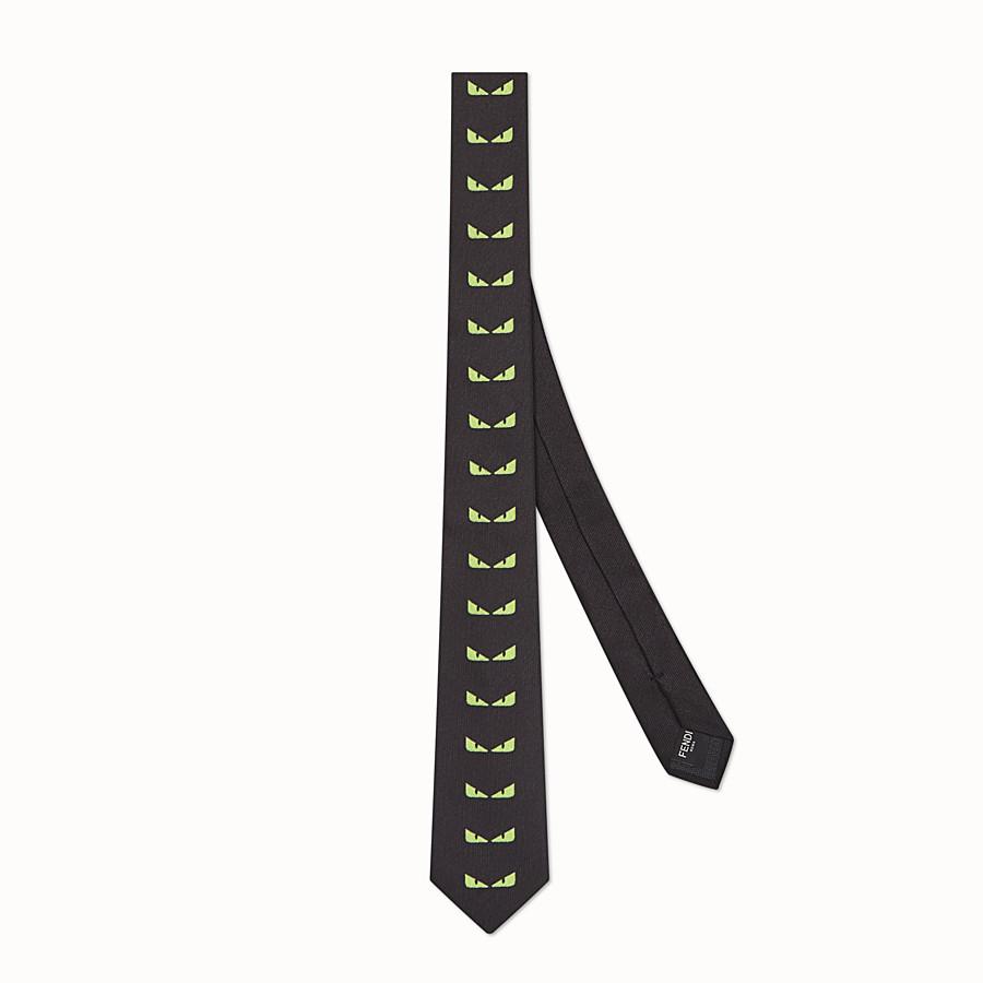 FENDI TIE - Black silk necktie - view 1 detail