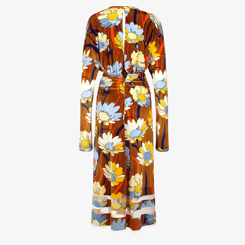 FENDI DRESS - Multicolor chenille dress - view 2 detail