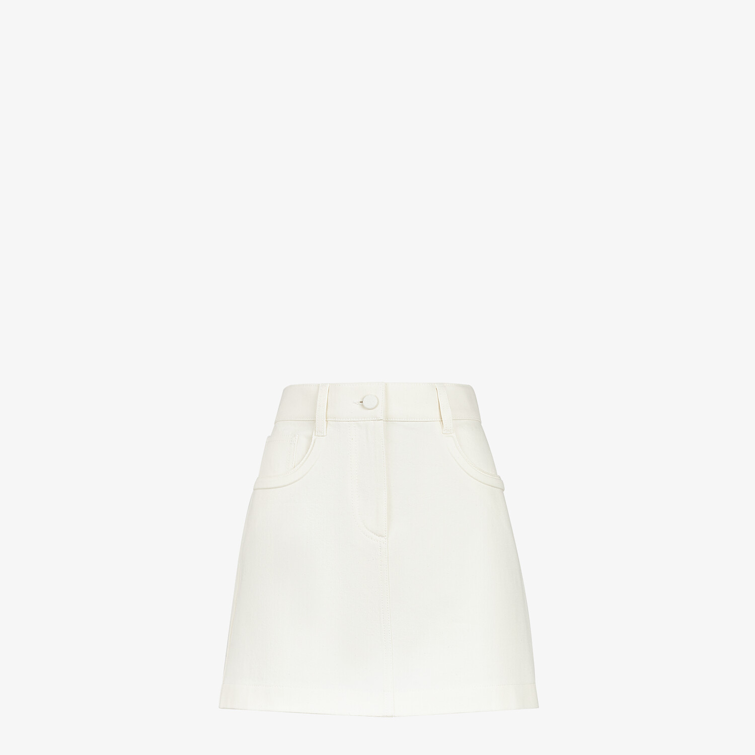FENDI SKIRT - White denim skirt - view 1 detail