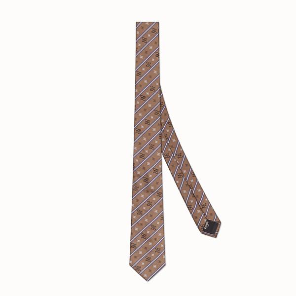 FENDI TIE - Beige silk tie - view 1 small thumbnail