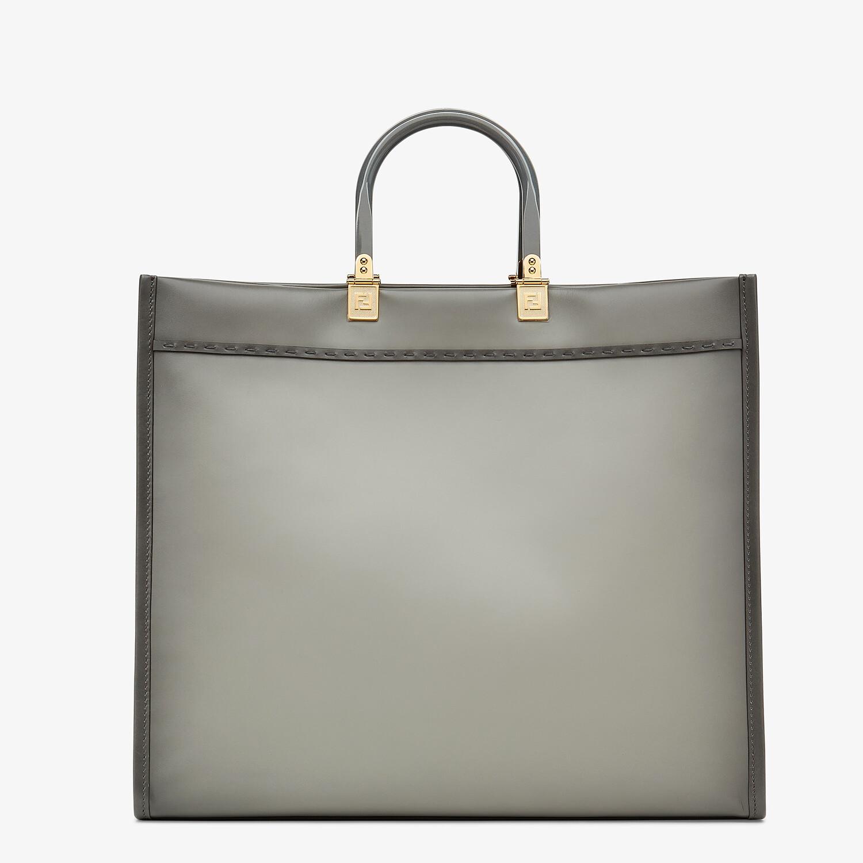 FENDI FENDI SUNSHINE LARGE - gray leather shopper - view 3 detail