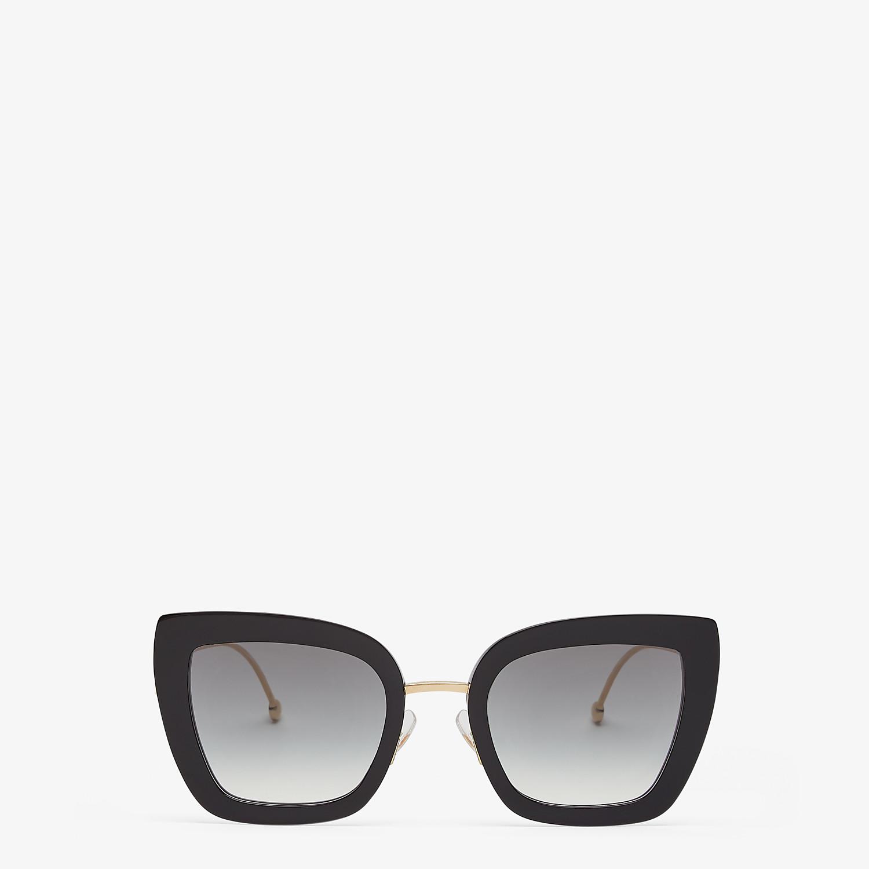 FENDI F IS FENDI - Black acetate and metal sunglasses - view 1 detail