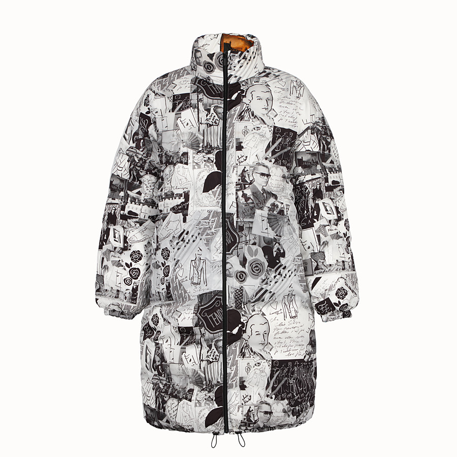 FENDI DOWN JACKET - Multicolour tech fabric down jacket - view 4 detail