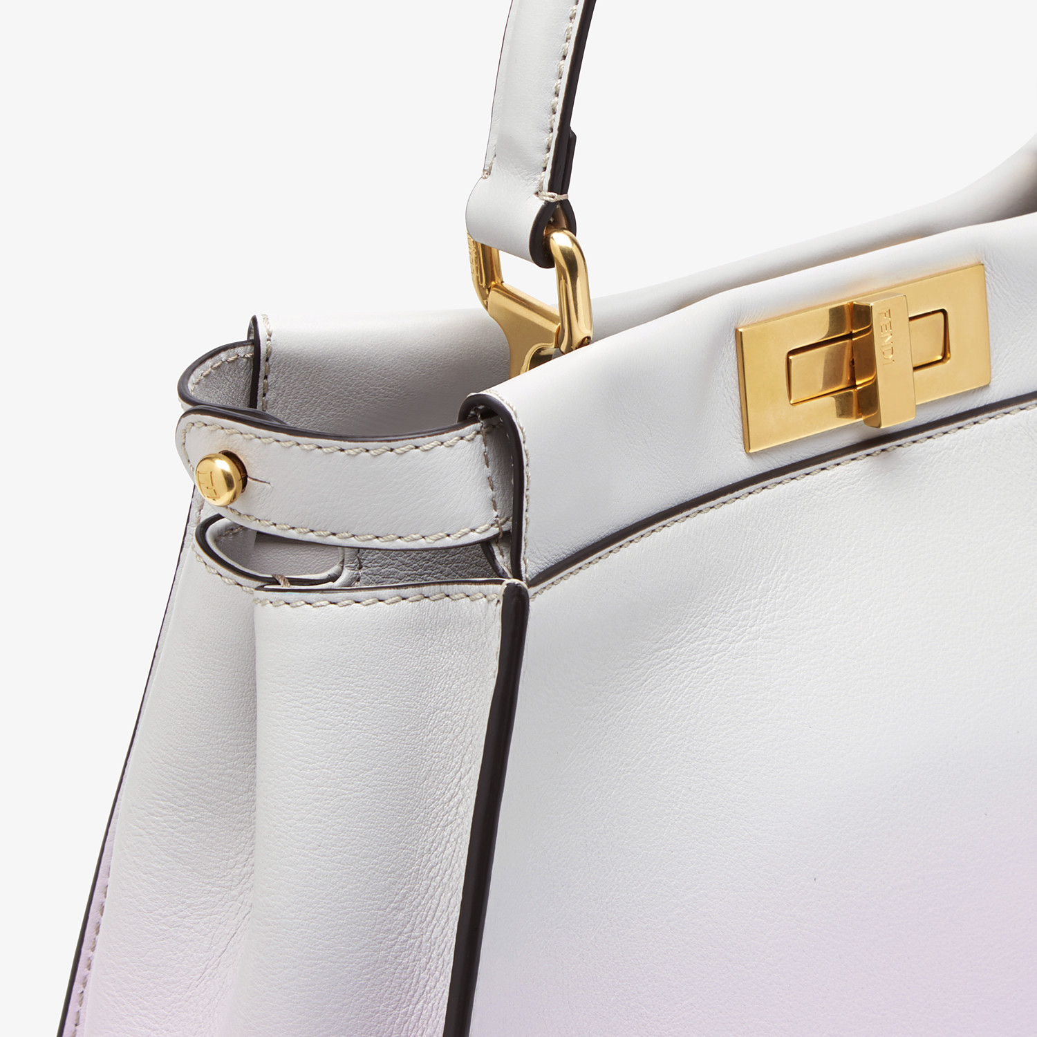 FENDI PEEKABOO ICONIC MEDIUM - Leather bag in graduated colors - view 6 detail