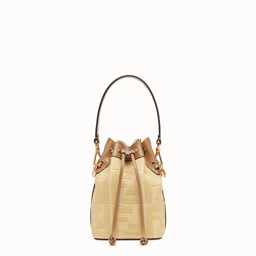 FENDI MON TRESOR - Beige raffia mini bag - view 1 detail