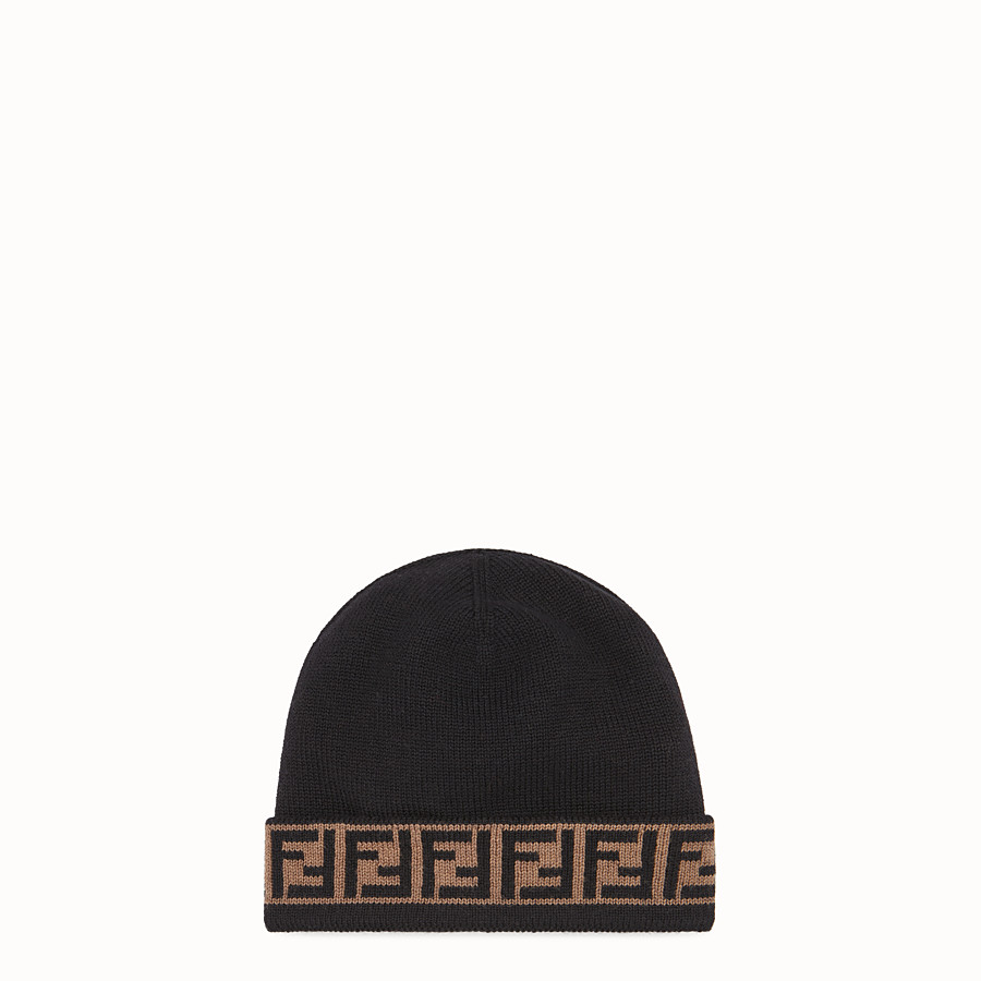 FENDI HAT - Black wool hat - view 1 detail