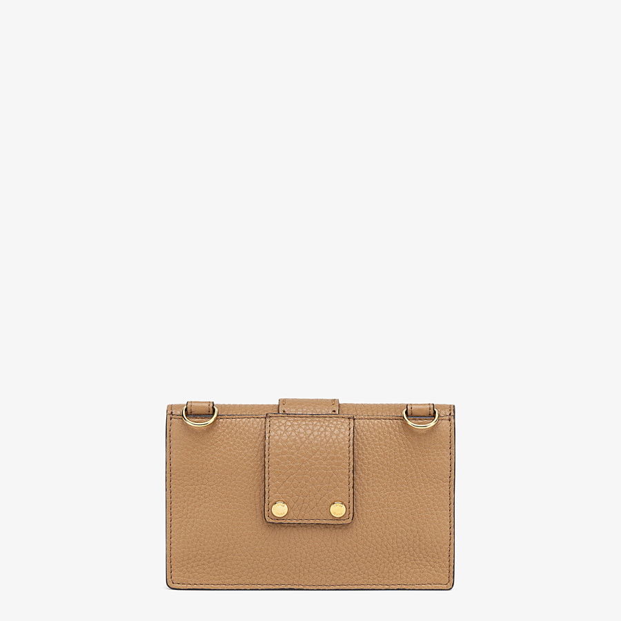 FENDI BAGUETTE POUCH - Beige leather bag - view 3 detail