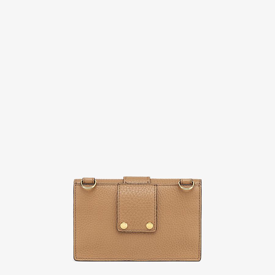 FENDI BAGUETTE POUCH - Beige leather bag - view 3 detail