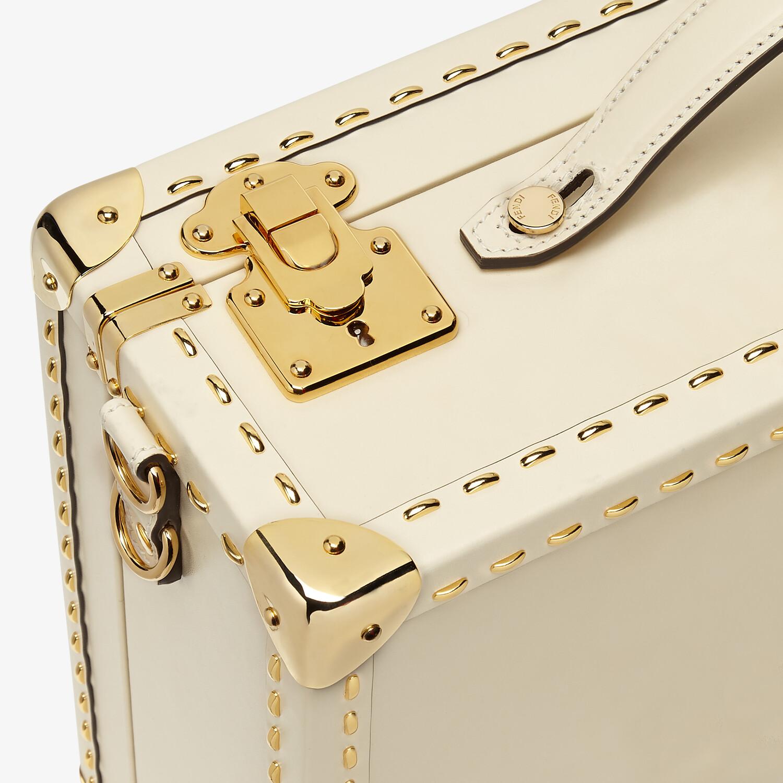 FENDI TRAVEL CASE MEDIUM - White leather suitcase - view 5 detail