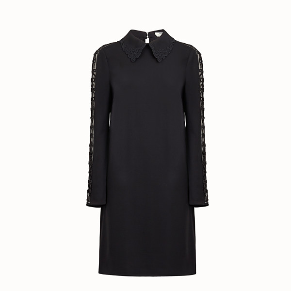 FENDI DRESS - Black cady dress - view 1 small thumbnail