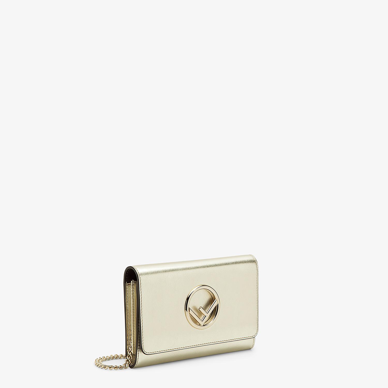 FENDI WALLET ON CHAIN - Metallic leather mini-bag - view 2 detail