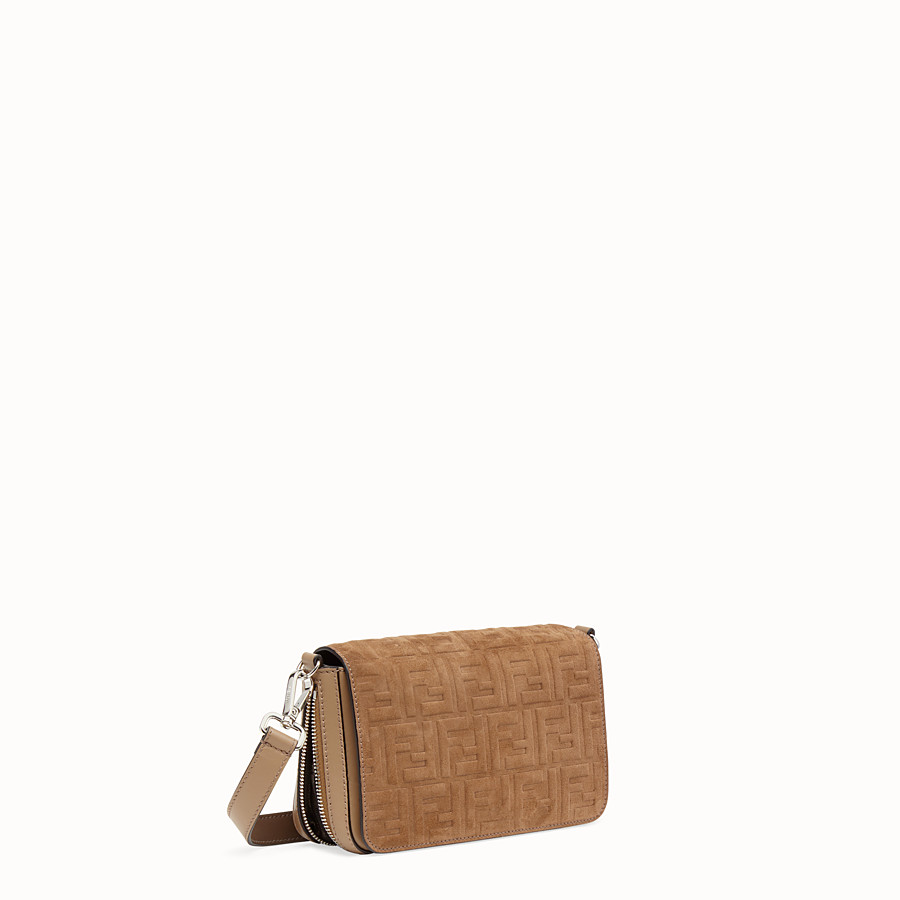 FENDI FLAP BAG - Beige leather bag - view 3 detail