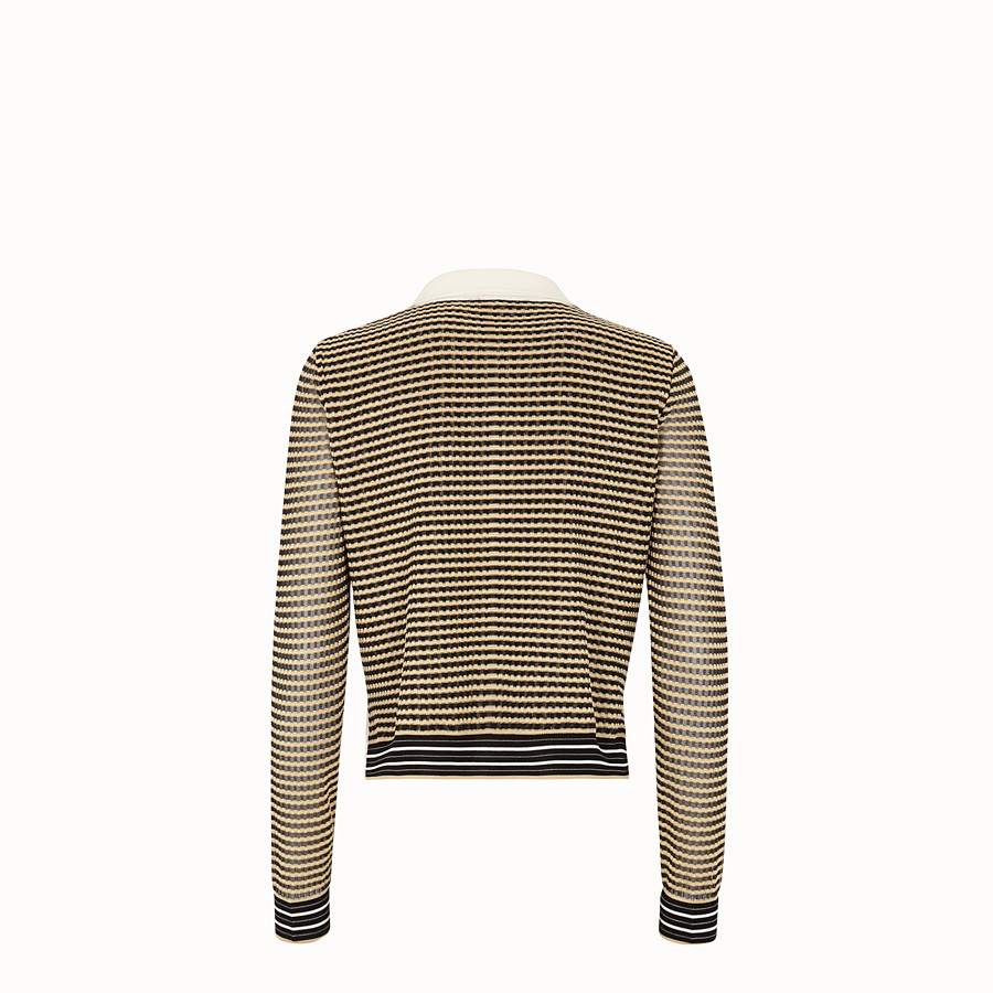 FENDI PULLOVER - Micro-check silk jumper - view 2 detail
