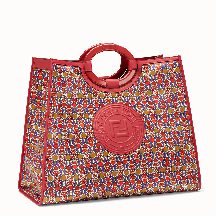 FENDI RUNAWAY SHOPPER - Multicolour satin shopper - view 2 detail