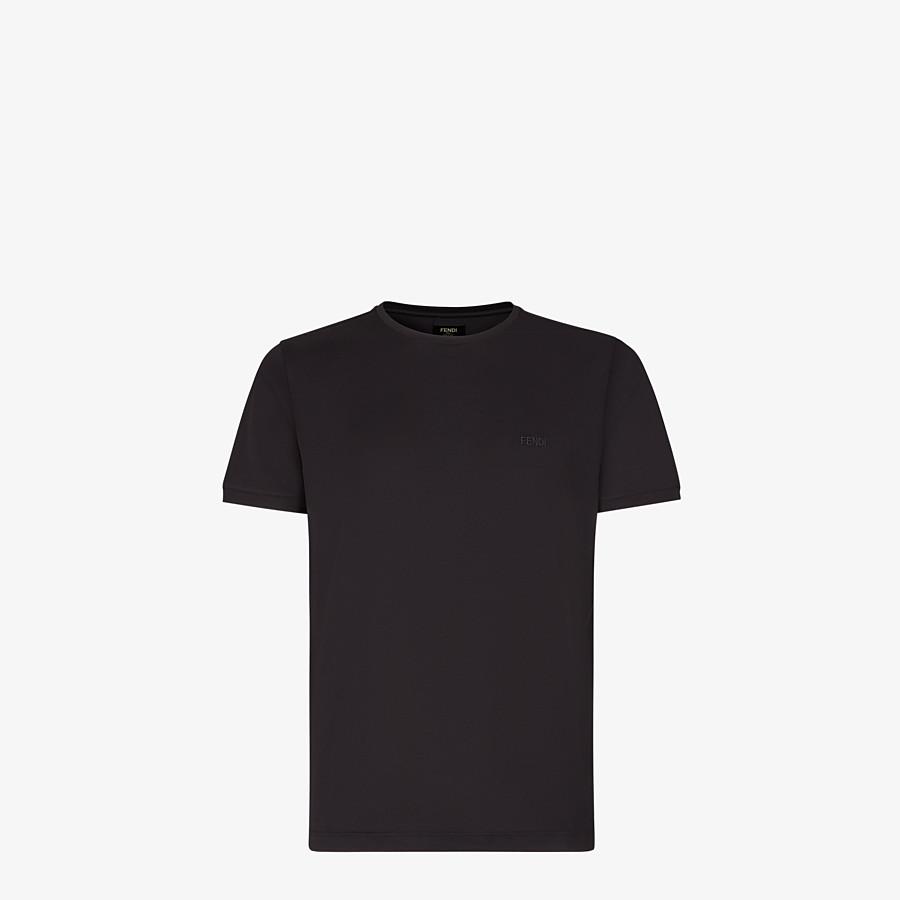 FENDI T-SHIRT - Black jersey T-shirt - view 1 detail