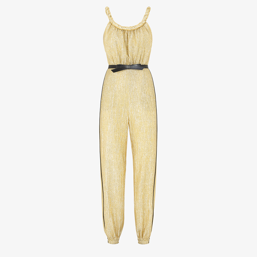 FENDI JUMPSUIT - Gold Lurex jumpsuit - view 1 detail