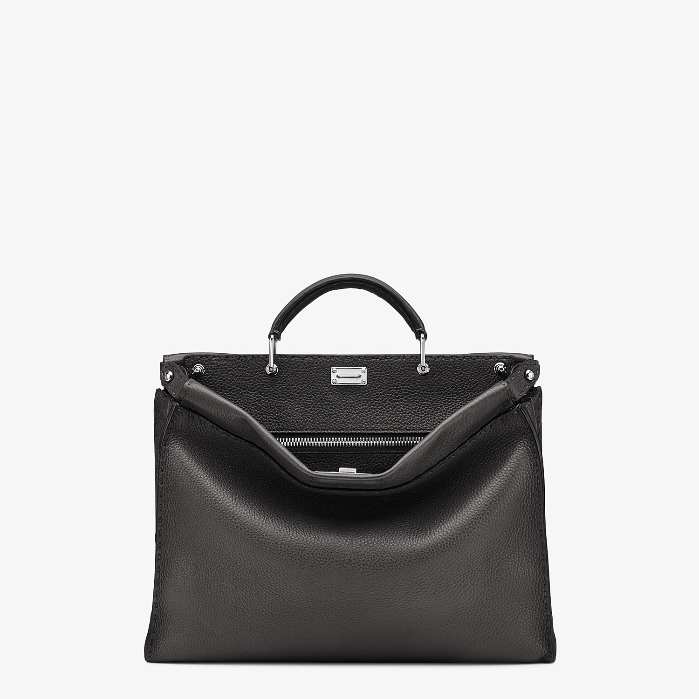FENDI PEEKABOO ICONIC FIT - Black leather bag - view 1 detail