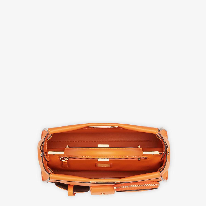 FENDI PEEKABOO ICONIC MEDIUM - Orange leather bag - view 5 detail