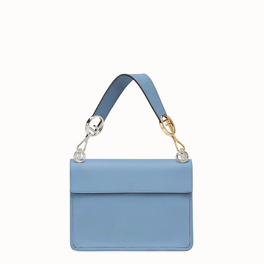 FENDI KAN I F - Blue leather bag - view 3 detail